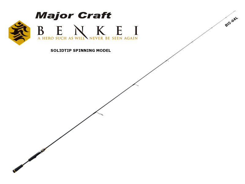 Major Craft Benkei Solid Tip Spinning Model BIS-S652L/SFS (Length: 1.98mt, Lure: 1/64-1/4 oz)