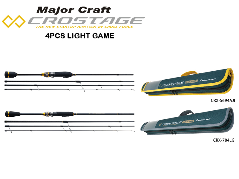 Major Craft New Crostage CRX-T784LG 4pcs Light Game Series (Length: 2.37mt, Lure:3-15gr)