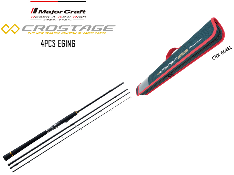 Major Craft New Crostage CRX-864EL 4pcs Eging Series (Length: 2.62mt, Egi: 2.0-3.5)