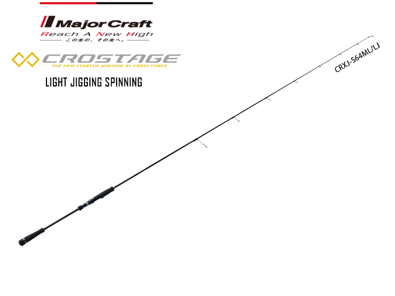 Major Craft New Crostage Light Jigging Spinning Model CRXJ-S64ML/LJ (Length: 1.95mt, Lure: 60-150gr)