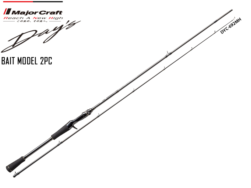 Major Craft Day's Bait Model 2pcs DYC-692MH ( Length: 2.10mt, Lure:1/4-1 oz)