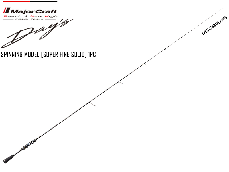 Major Craft Day's Spinning Model [Super Fine Solid] 1pc DYS-S63UL/SFS ( Length: 1.92mt, Lure: 1/64-3/16 oz)