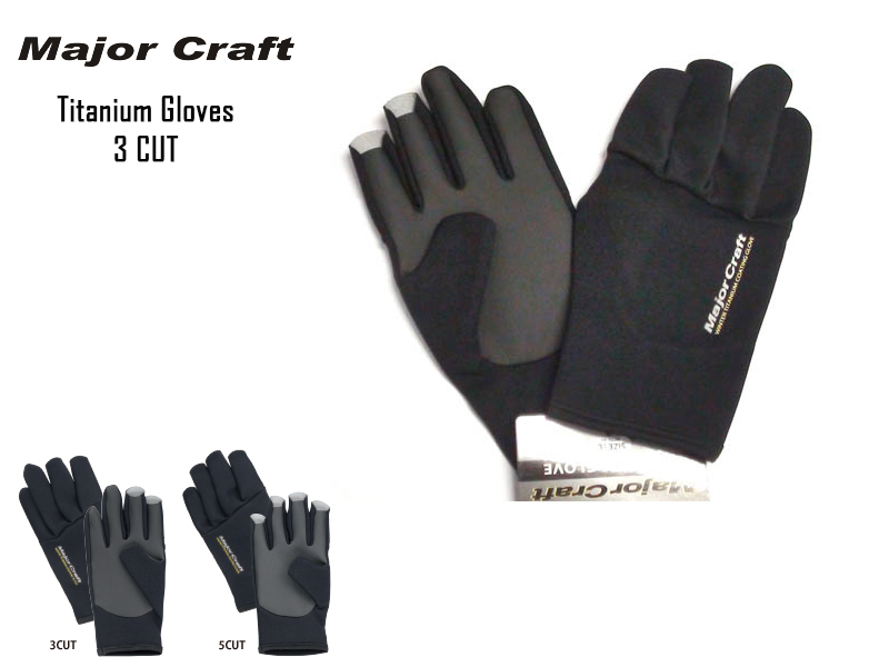Major Craft Titanium Gloves 3 CUT Size: L