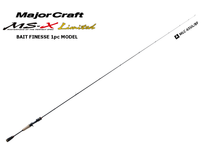 MajorCraft Ms-X Limited Baitcasting 1pc Model MLC-65UL/BF (Length: 1.98mt, Lure: 1/32-1/4)