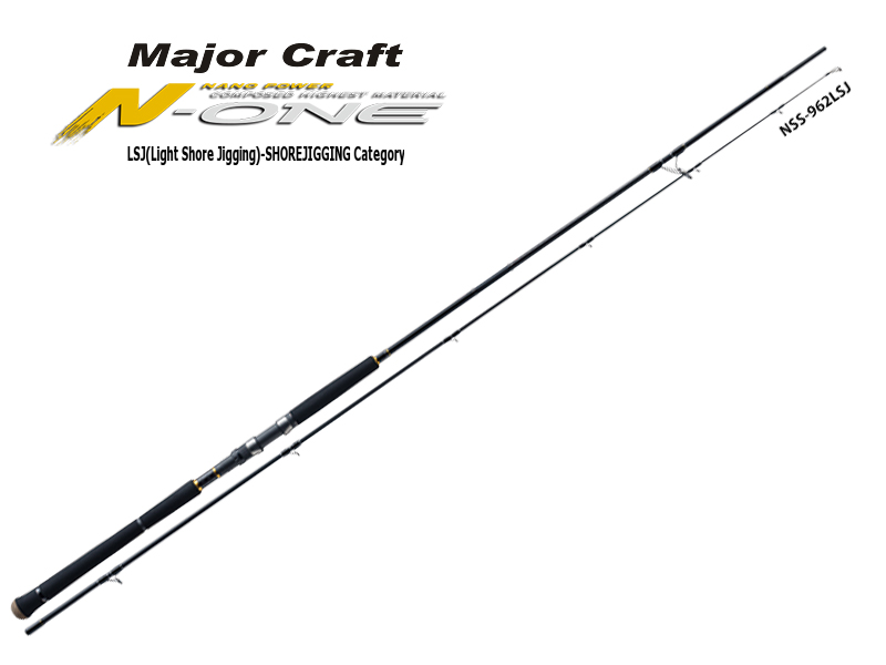 Major Craft N-One Light Shore Jigging Category 3 Piece Model NSS-963LSJ (Length: 2.93mt, Lure: 30-50gr)