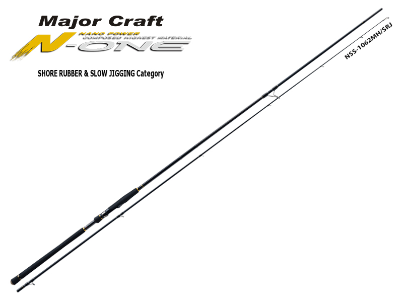 Major Craft N-One Shore Rubber & Slow Jigging Category NSS-862L/SRJ (Length: 2.62mt, Lure: 10-30gr)