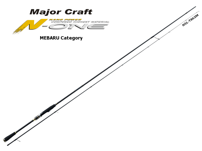 Major Craft N-One Mebaru Category NSL-T862M (Length: 2.62mt, Lure: 0.8-15gr)