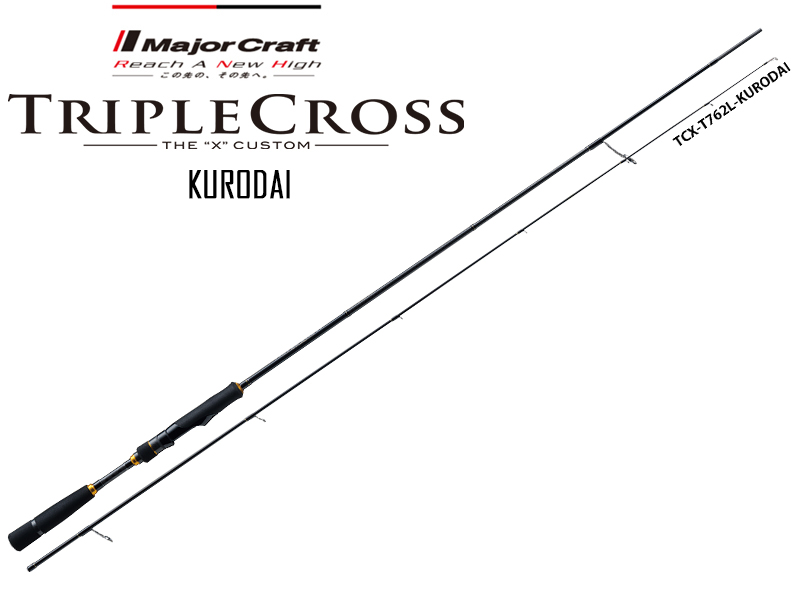 Major Craft Tripple Cross Kurodai Model TCX-T762L/KR (Length: 2.32mt, Lure: 2-10gr)