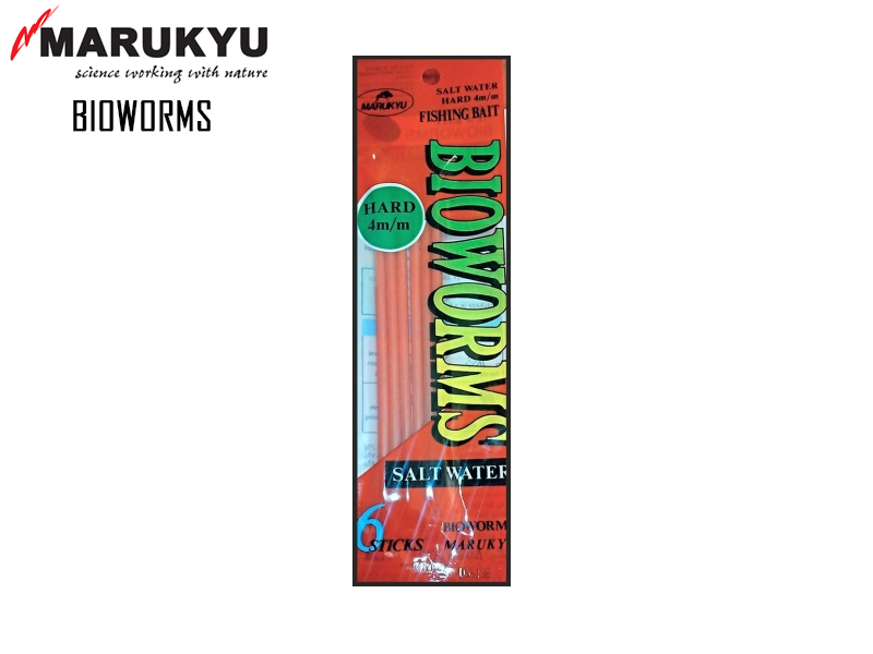 Marukyu Bioworms (Diameter: 6mm, Type: Hard, Pack:5pcs)