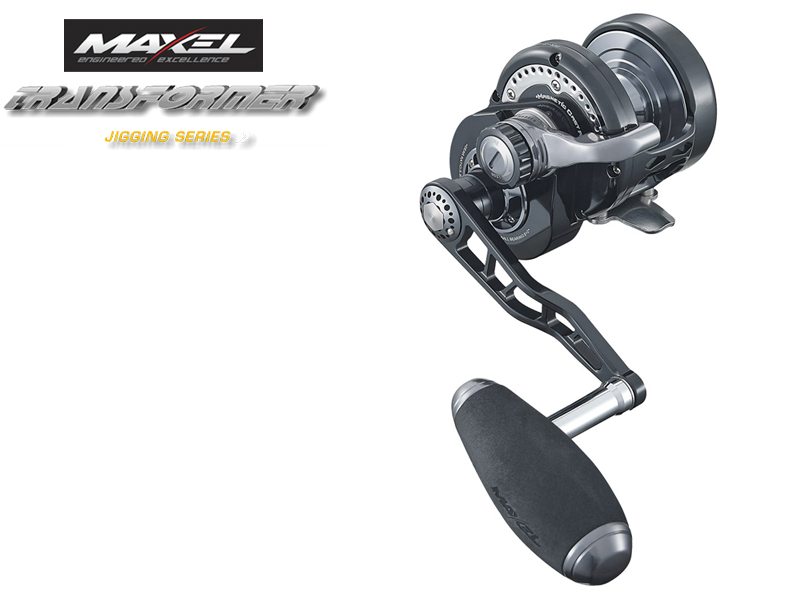 Maxel F40CH Transformer Jigging Lever Drag (Type: Right Hand, Color: Black Gun Smoke)