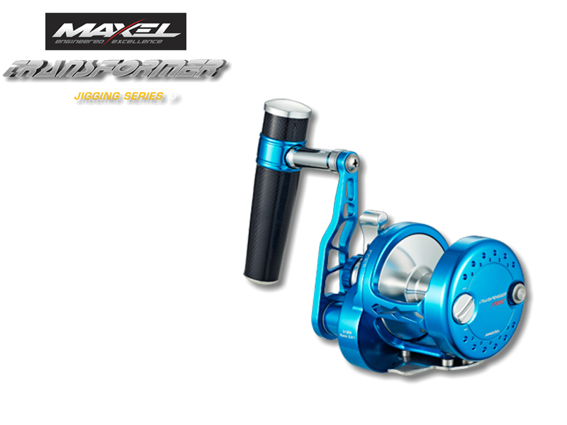 Maxel F40C Transformer Jigging Lever Drag (Type: Right Hand, Color: Blue Silver)