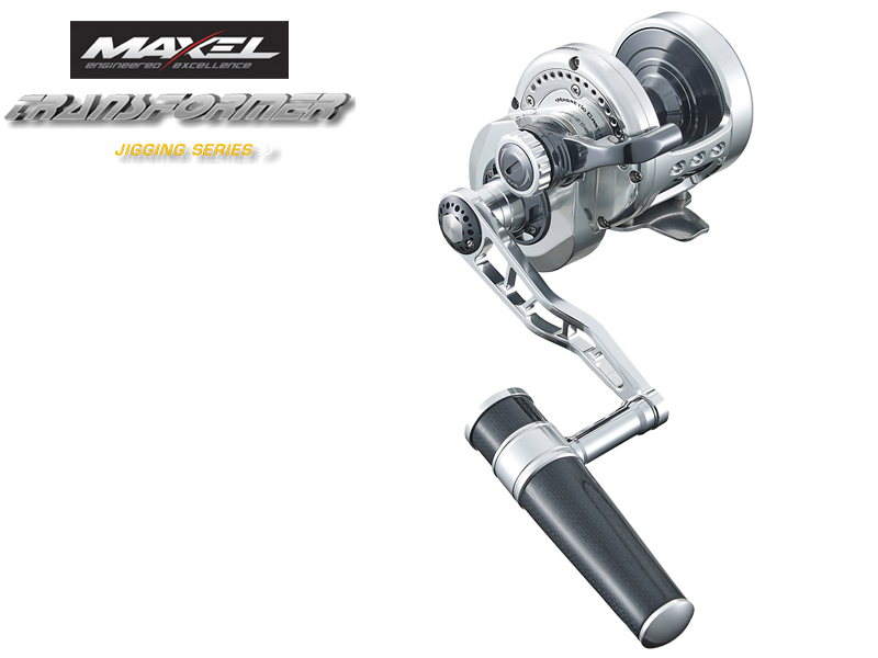 Maxel F40CHL Transformer Jigging Lever Drag (Type: Left Hand, Color: Silver)