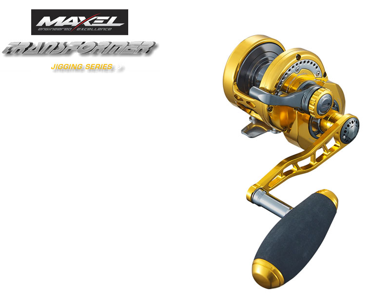 Maxel F30CHL Transformer Jigging Lever Drag (Type: Left Hand, Color: Gold)