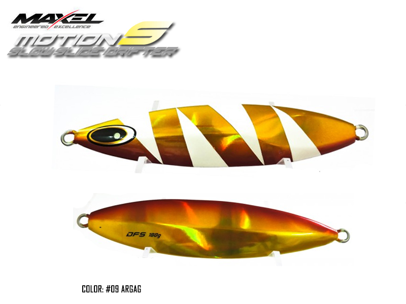 Maxel Dragonfly Jigs Motion S Slow Rider (Length: 133mm, Weight: 180gr, Color: #09 ARGAG)