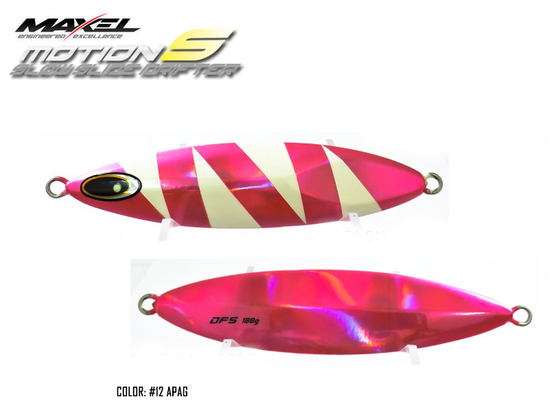 Maxel Dragonfly Jigs Motion S Slow Rider (Length: 133mm, Weight: 180gr, Color: #12 APAG)