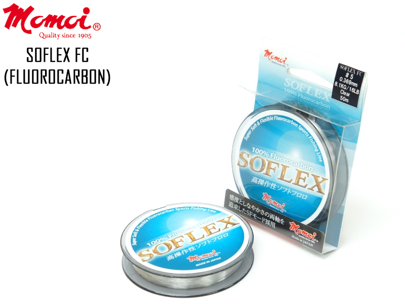 Momoi SOFLEX FC (Length: 50mt, Diameter: 0.185mm, Strength: 2.9kg)
