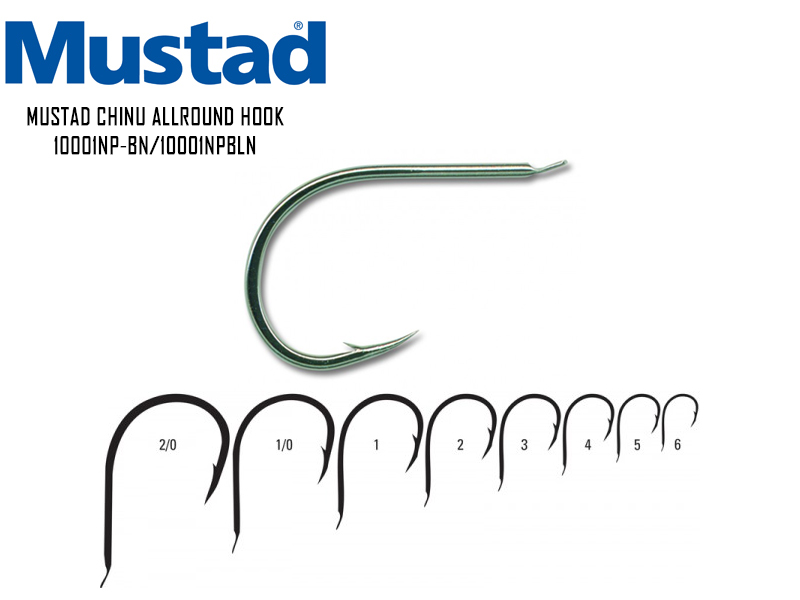 Mustad Chinu Allround Hook 10001NP-BN (Size: 3, Pack: 10pcs)