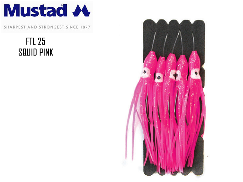 Mustad FTL25 Squid Pink Size: 3/0