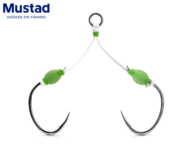 Mustad Slow Pitch Double Jigging Assist Rig (Size: 3/0, Pack: 2pcs)