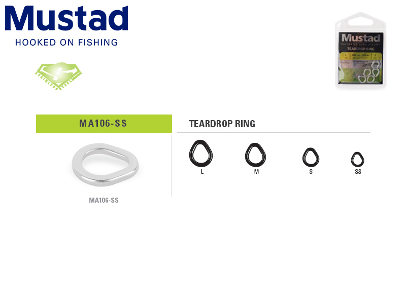 Mustad MA108-SS Stainless Steel Split Ring (Size: 5, B.S: 50kg, Pack: 9pcs)