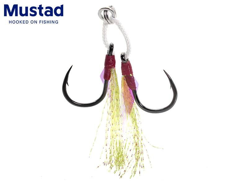 Mustad Light Double Jigging Assist Rig (Size: 1, Pack: 2pcs)