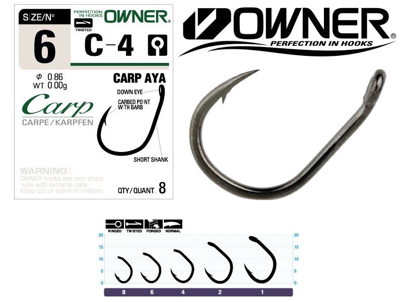 Owner 50924 C-4 Carp Aya (#1, 5pcs)