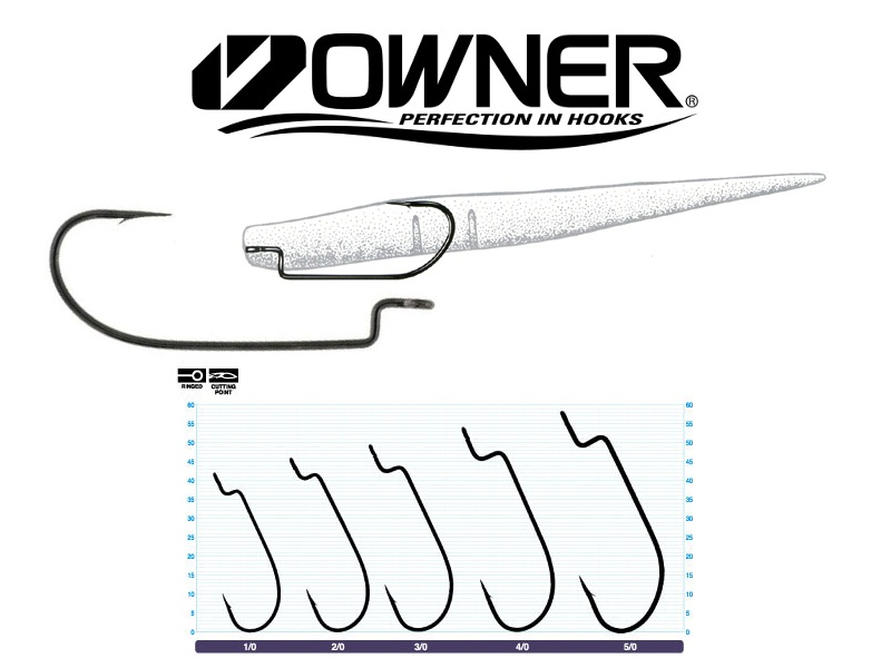 Owner 5102 Offset Shank Wide Gap (#2/0, 6pcs)