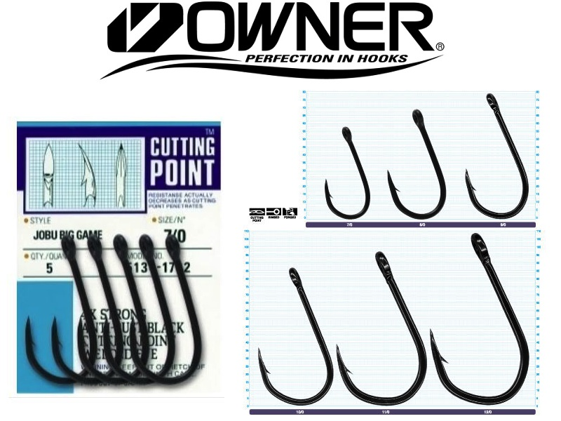 Owner 5134 Jobu Hook Black (#10/0, 2pcs)
