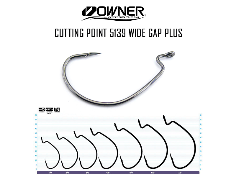 Owner Cutting Point 5139 Wide Gap Plus (Size: 5/0, Pack: 5pcs)