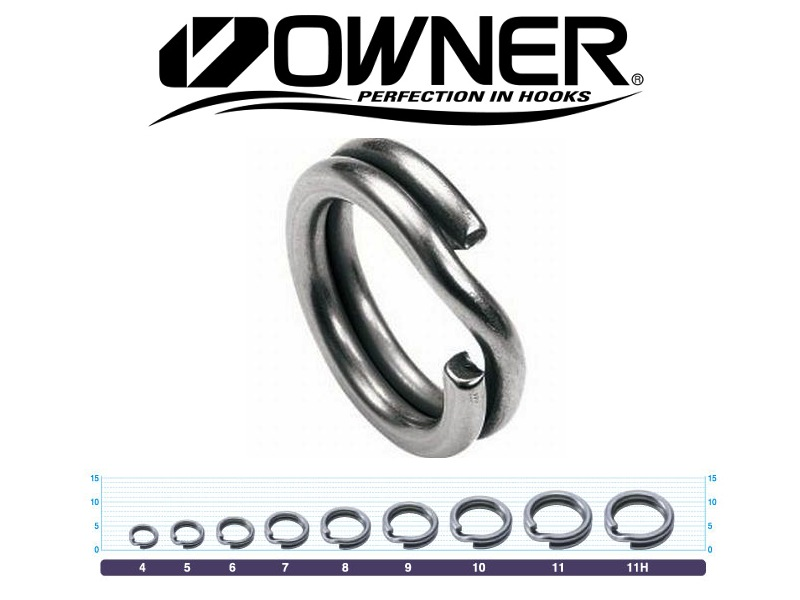 Owner 5196 Split Ring Hyper Wire (#4, 50lb, 10pcs)