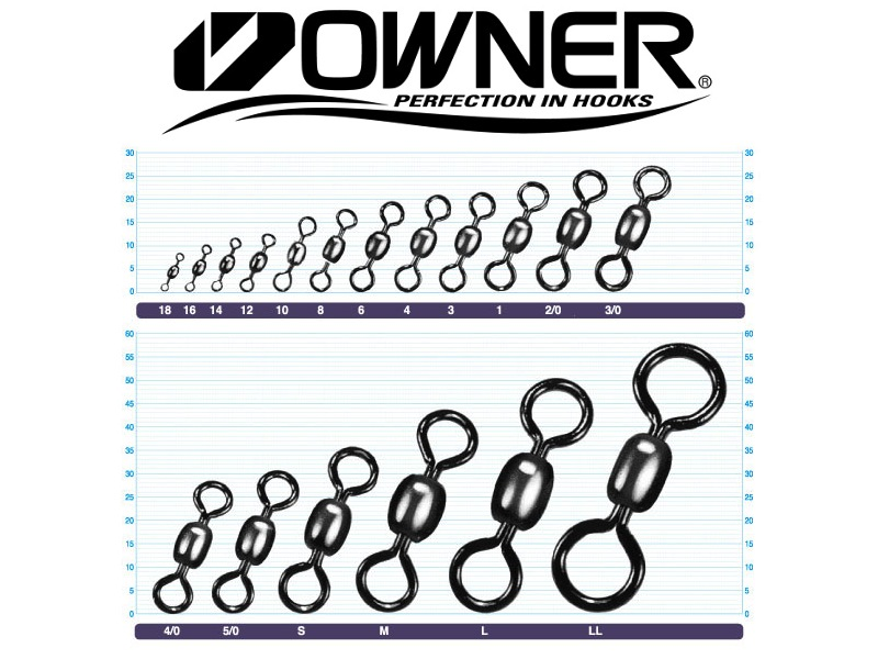 Owner 52481 Crane Swivel (#4/0, 434lb, 4pcs)