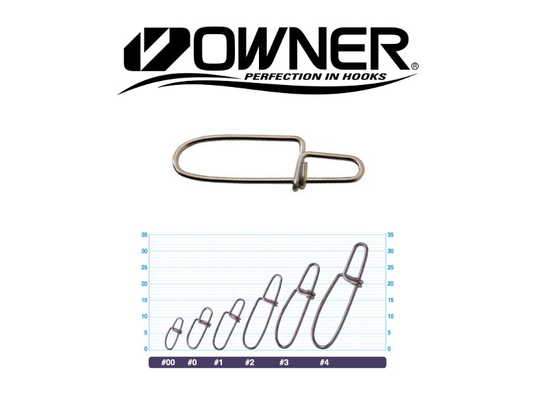 Owner 52810 Cross Lock Snap (#0, 70lb, 10pcs)