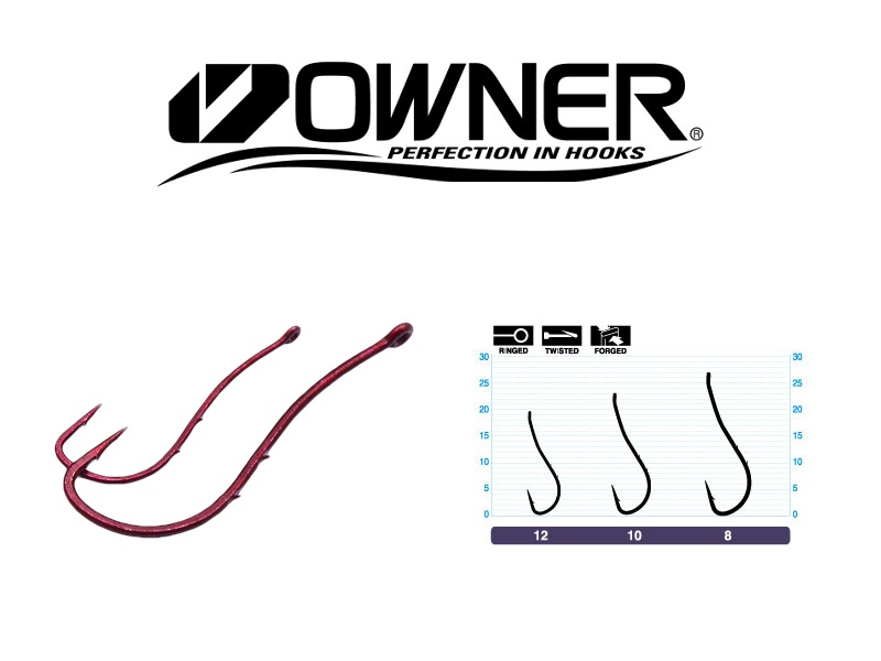 Owner 53118 Worm SP - BH Bloody Red (#8, 7pcs)