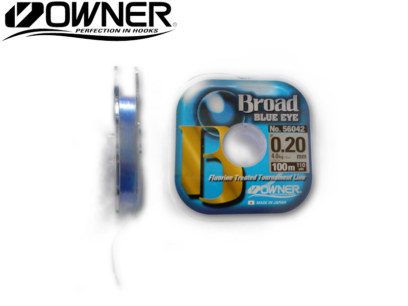 Owner 56042 Broad Blue Eye (Line Ø: 0.14mm, Line Strength: 2.2kg, Spool: 100mt)