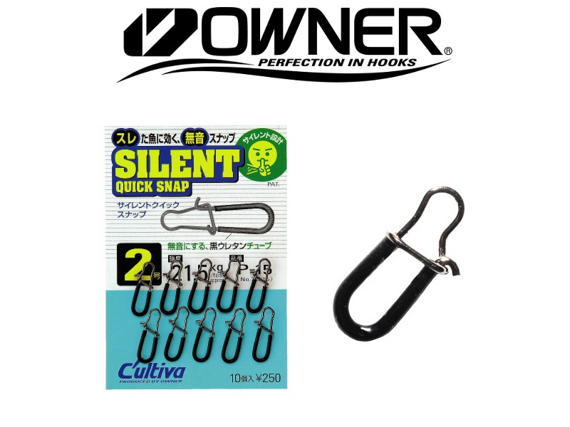 Owner 72815 Silent Quick Snap (#0, 9.6kg, 10pcs)