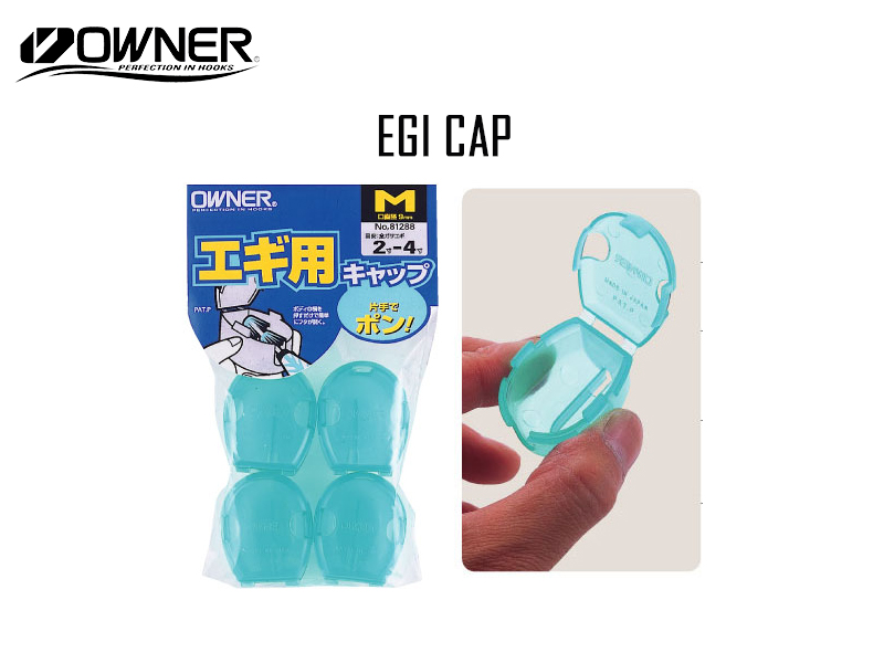 Owner Egi Cap (Size: Small, Color: Clear, Pack: 4pcs)