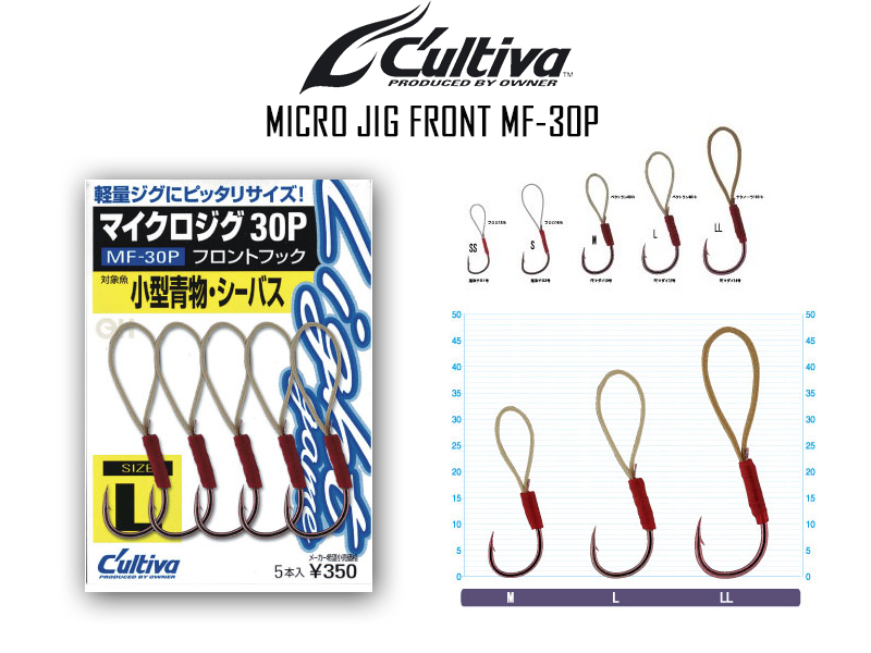 Cultiva Micro Jig Front MF-30P (Size: S, Pack: 6pcs)