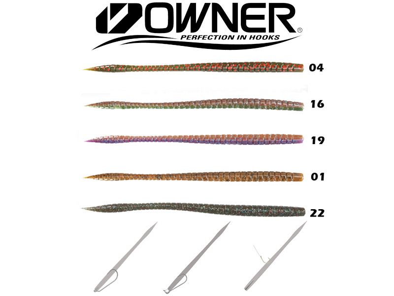"Owner Shaky Worm SW160 (160mm, 6.5"", Colour:16)"