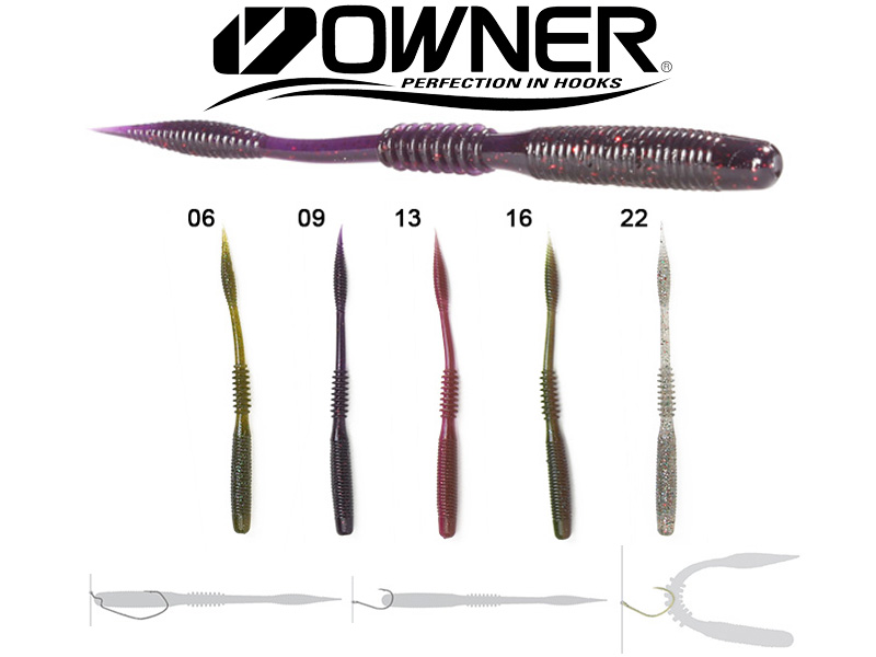 "Owner Shiver Tail STL-115 (115mm, 4.5"", Colour:22, 10pcs)"