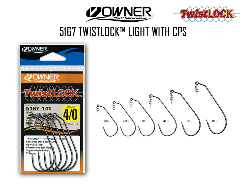 Owner 5167 Twistlock™ Light with CPS (Size: 2/0, Pack:5pcs)