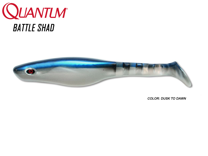 Quantum Battle Shad (Length: 8cm, Weight: 3.5gr, Color: Dusk to Dawn)