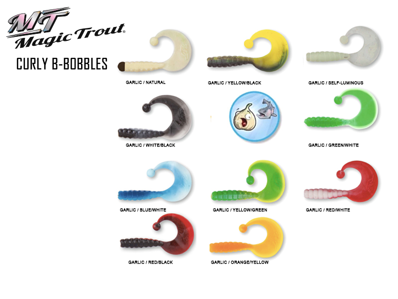 Quantum Curly B-Bobbles (Length: 3.5cm, Weight: 0.4gr, Color: Garlic / self-luminous)