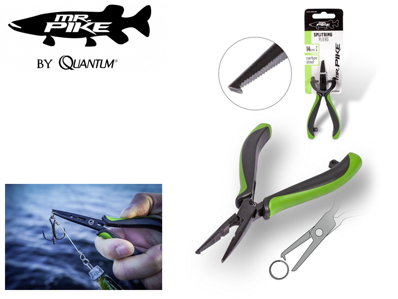 Quantum Mr. Pike Splitring Pliers ( Length: 14cm, Color: Green/Black)