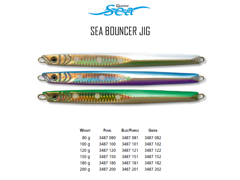 Quantum Sea Bouncer Jig (Weight: 200gr, Color: Pearl)