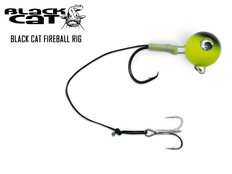 Black Cat Fireball Rig (Weight: 100gr, Hook Size: 8/0)