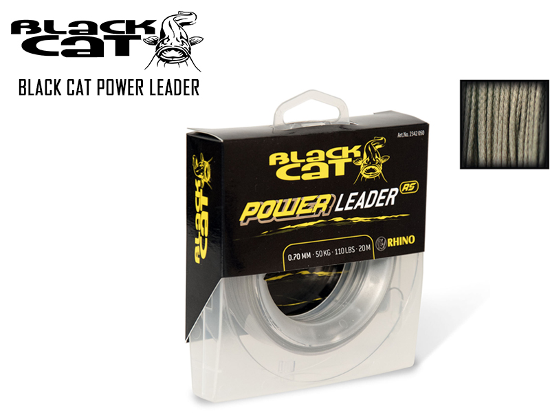 Black Cat Power Leader (Size: 0.70mm, B.S: 50kg, Length: 20mt)