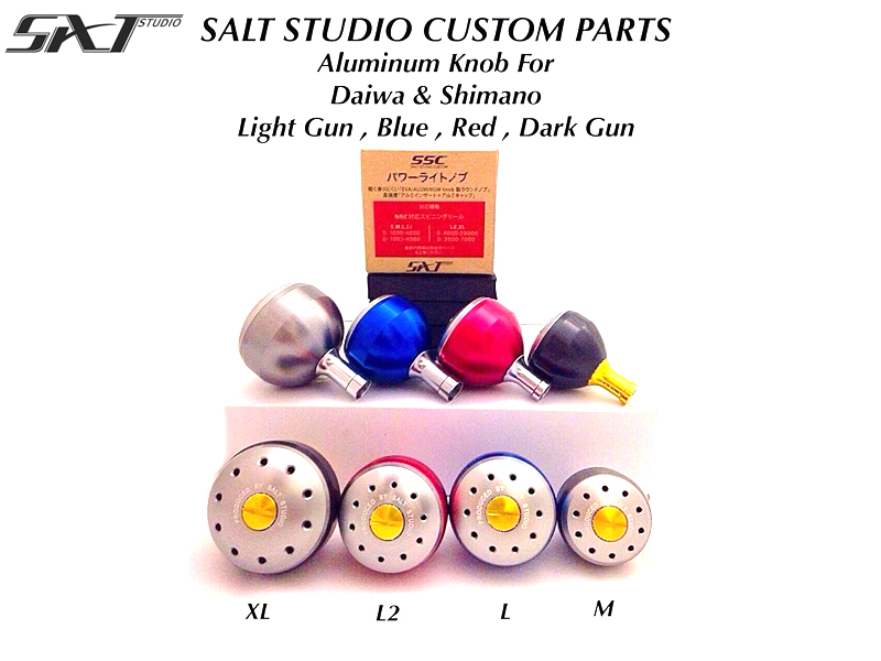 Salt Studio Aluminum Knob (Size: M, Color: Light Gun)