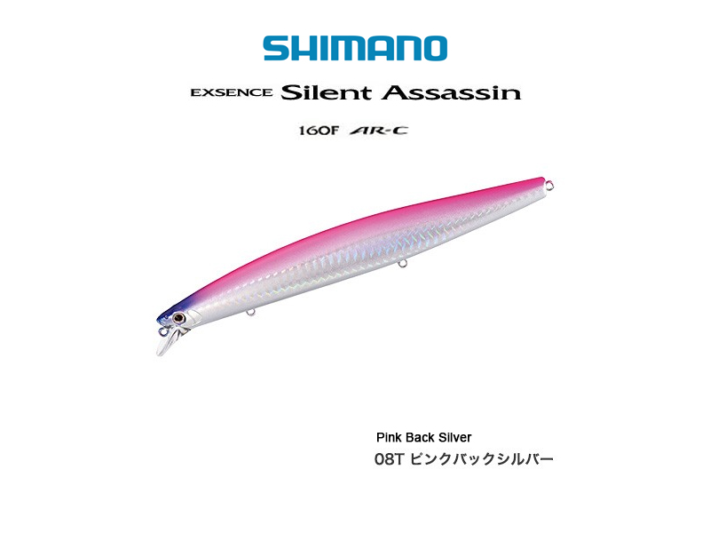 Shimano Exsence Silent Assassin 160F AR-C (Length: 163mm, Weight: 32gr, Color: Pink Back Silver)
