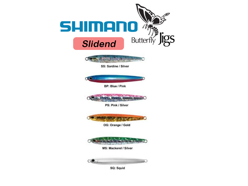 Shimano Butterfly Slidend (Weight: 55gr, Color: Sardine Silver)