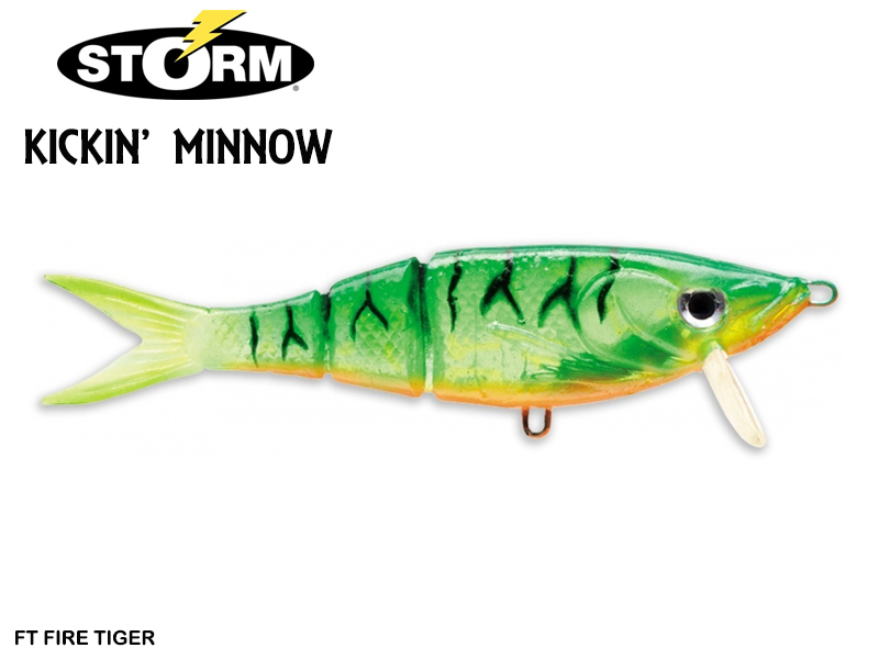 Storm Kickin' Minnow (Length: 10cm, Weight: 11gr, Color: FT Fire Tiger)
